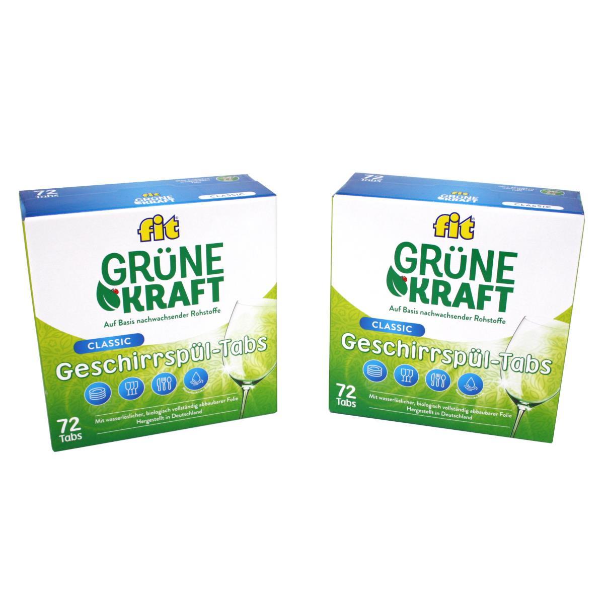 FIT Grüne Kraft Classic 144 Tabs Spülmaschinentabs Geschirrspültabs,Fit,4013162016280, 0721947483489