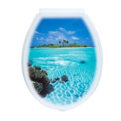 WC Sitz Insel Deckel Toilettensitz Toilettendeckel Klodeckel Deko Klobrille ,Karo , 000051008419, 2000510084192