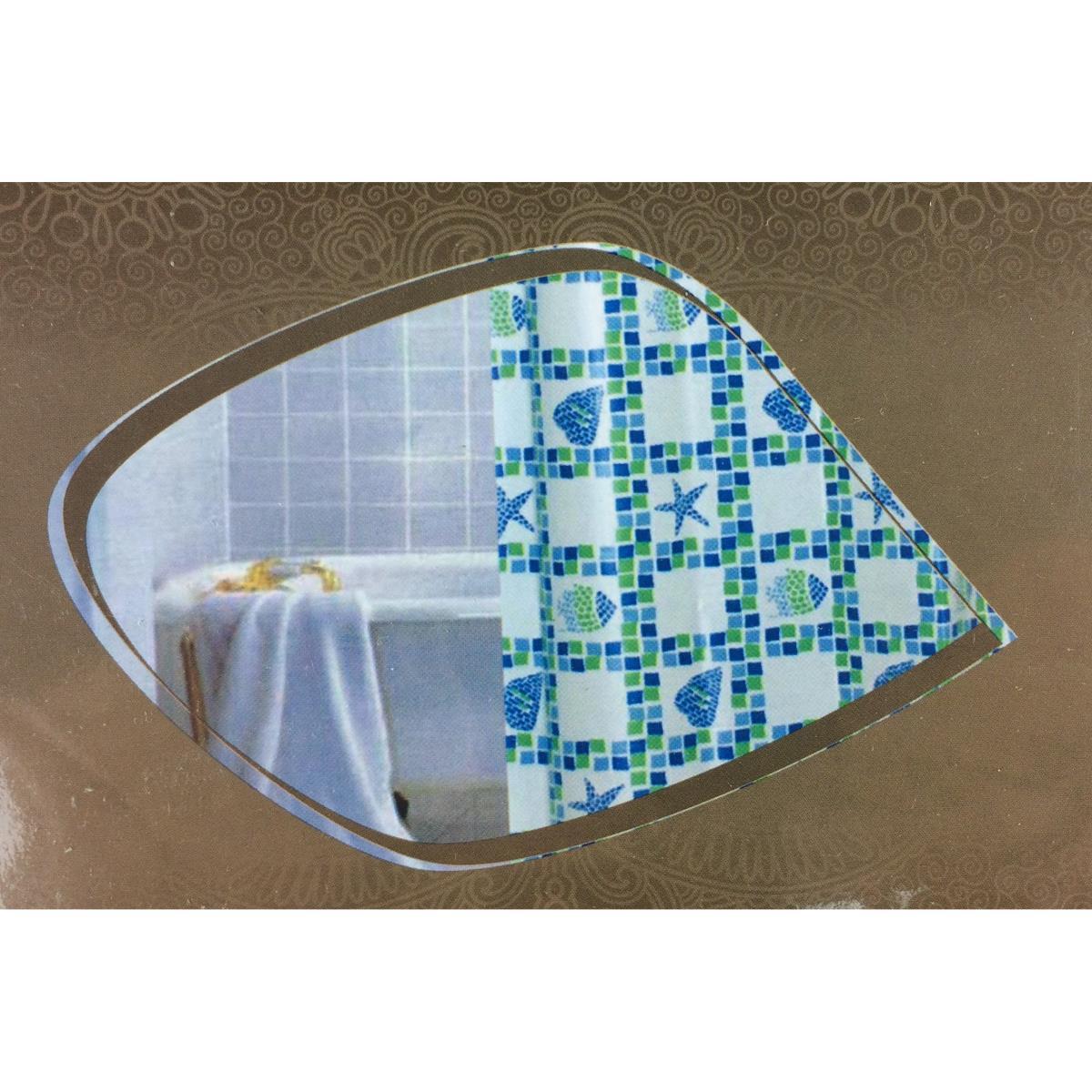 Duschabtrennung  Duschvorhang Badvorhang  Wannenvorhang mit Ringe 180 x 180 cm ,UAB,000051182743, 4770364246784