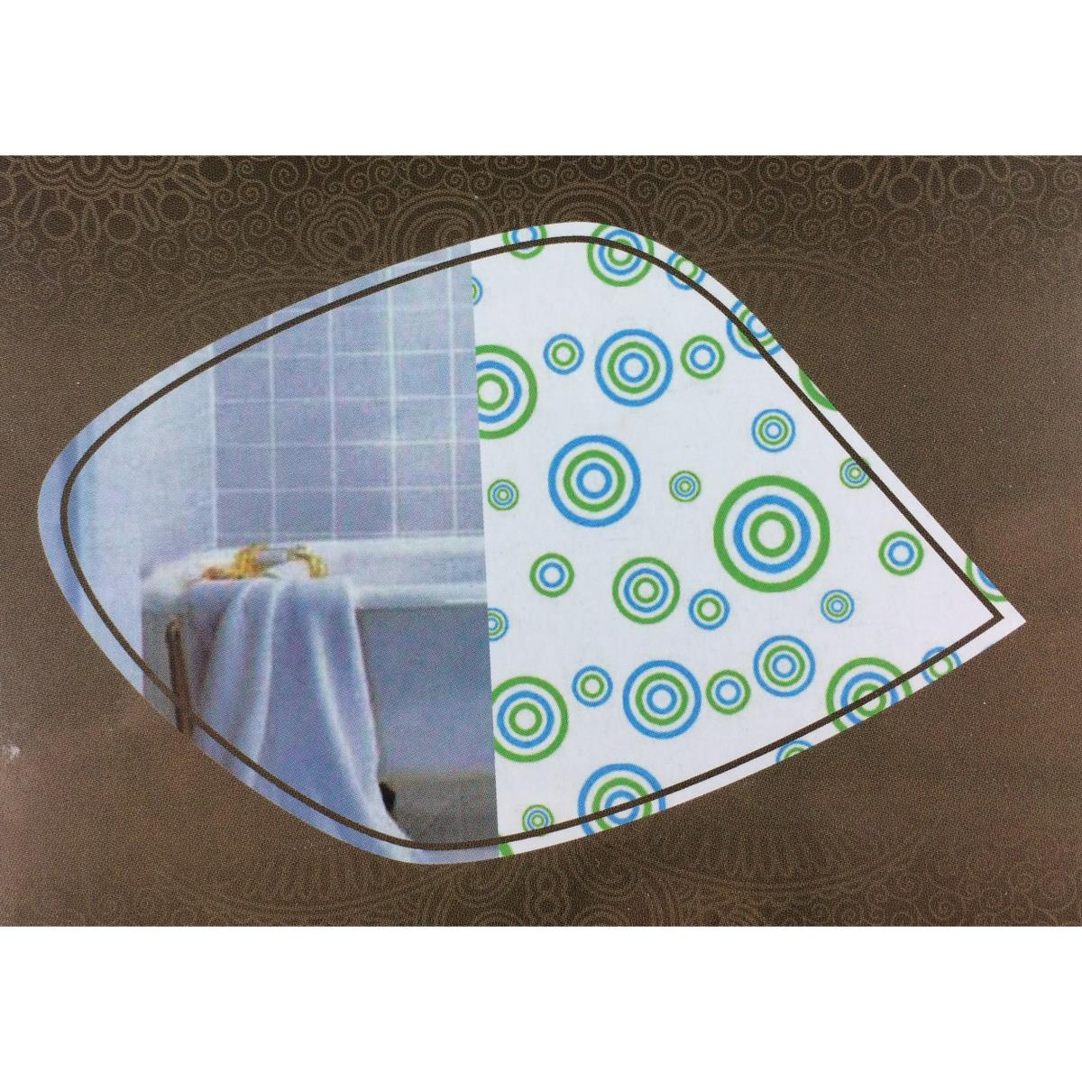 Badvorhang mit Ringen Duschabtrennung Wannenvorhang Duschvorhang 180 x 180 cm ,UAB,000051182750, 4770364246746