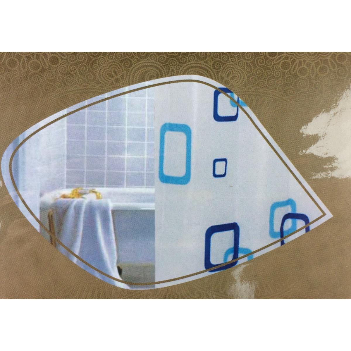 Duschabtrennung mit Ringen Badvorhang Wannenvorhang Duschvorhang 180 x 180 cm ,UAB,000051182740, 4770364246807
