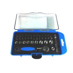 Steckschlüssel Bitsatz mit Ratsche und Bithalter 38 teilig,UAB,000051087132, 2000510871327