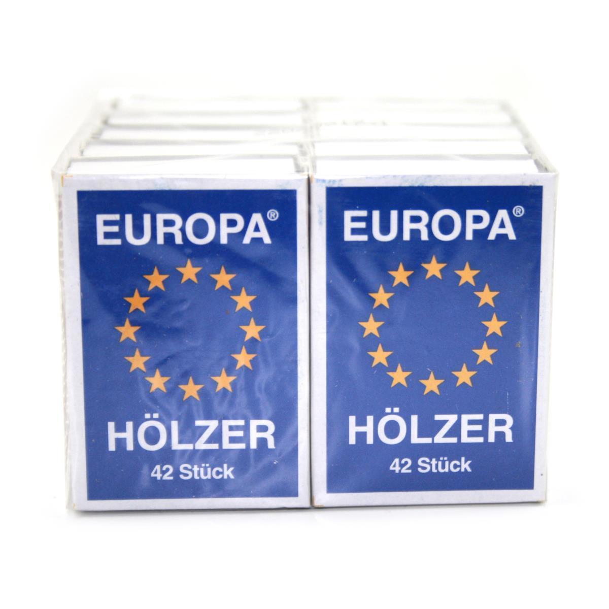10 Schachteln Europa Streichhölzer, Zündhölzer, Zündholzschachtel,KM Zündholz International,4004753000504, 0721947484806