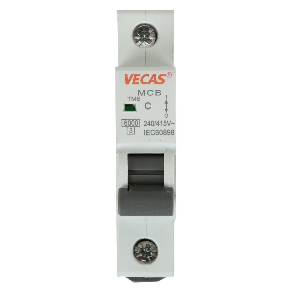 Leitungsschutzschalter Sicherungsautomat  C, 1-polig, 10A LS-Schalter,Vecas,L7-10-1-C, 4770364101410
