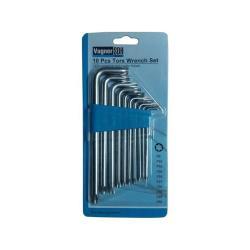 Torx Schlüssel Satz Innen 10-tg Werkzeug Set Winkelschlüssel von T9 bis T50,Vagner SDH,2000510807555, 4772013104292