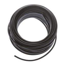 Schlauchleitung 25m flexibles Kabel 2 x 0,75 mm  PVC-Leitung H03VV-F schwarz