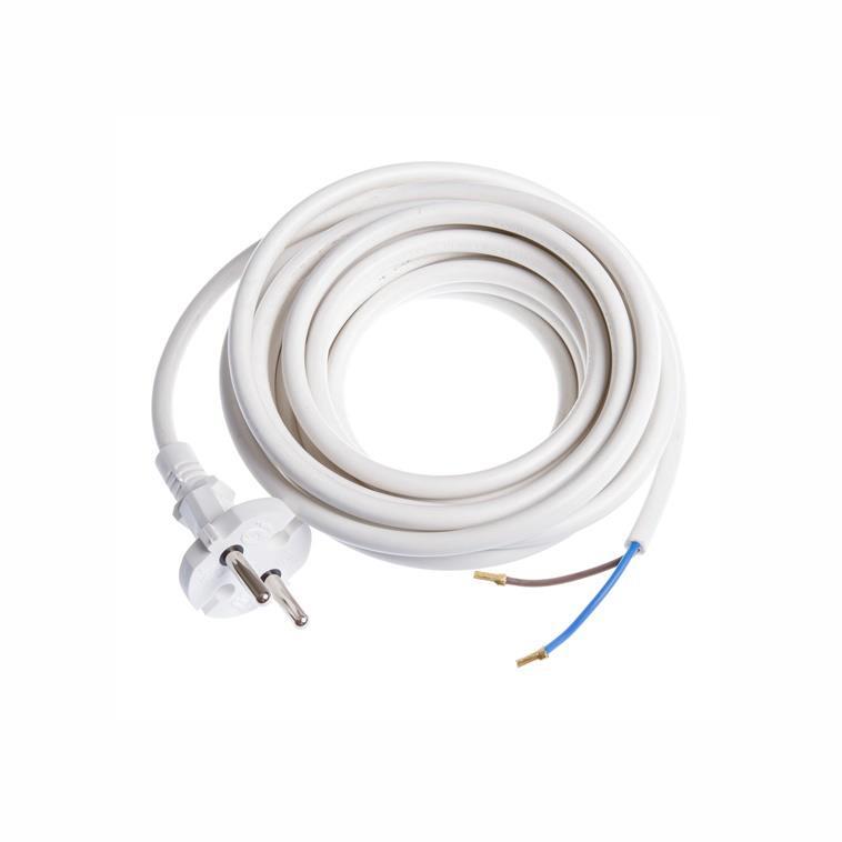 Netzkabel 5m Stromkabel mit offenes Ende 2 x 0,75 mm weiß,OKKO,H1Z2A, 4772013041030