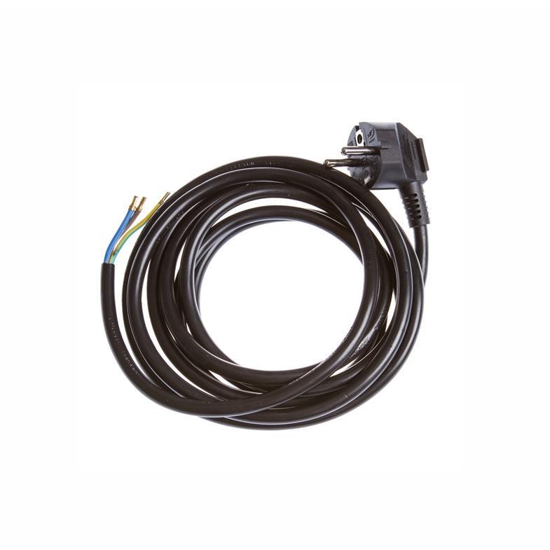 Netzkabel 3m schwarz Schutzkontakt-Stecker an offenes Ende