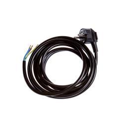 Netzkabel 5m gewinkelt Stromkabel mit offenes Ende 3 x 1,5 mm schwarz 16A,OKKO,KF-CR2 5M, 4772013040699