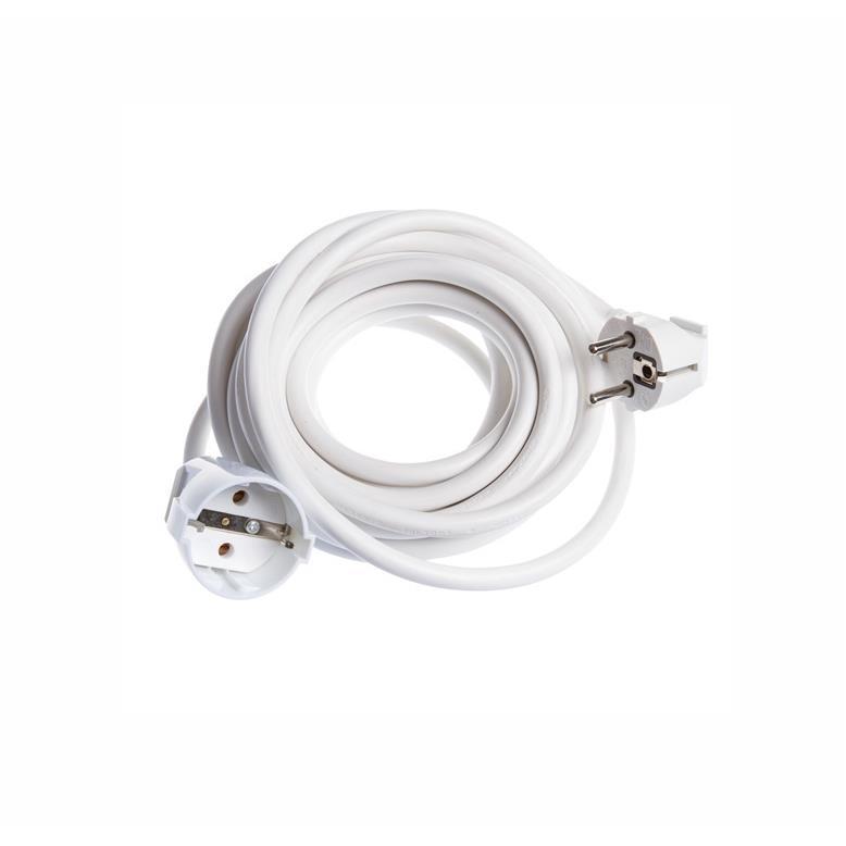 Strom Verlängerungskabel 10m Kabel Verlängerung gewinkelt weiß 16A,OKKO,G2N5 10M, 4772013040392