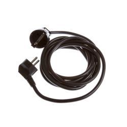 Strom Verlängerungskabel 5m Kabel Verlängerung gewinkelt schwarz 16A