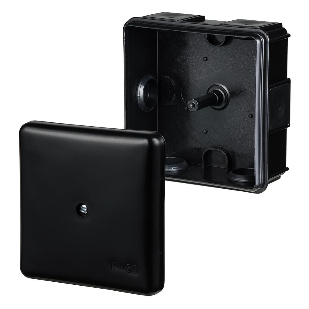Abzweigdose Verteilerdose IP55 schwarz 86x86x39 Aufputz Verbindungsdose EP-LUX,Elektro-Plast,0226-02, 5902012986653