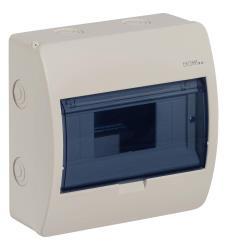 Sicherungskasten Verteilerkasten 8 Module Aufputzverteiler Aufputz creme ELEGANT,Elektro-Plast,2402-03, 5902431692074