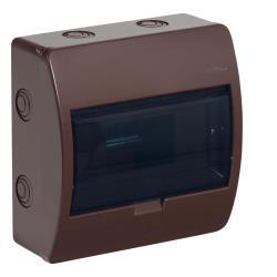 Sicherungskasten Verteilerkasten 8 Module Aufputzverteiler Aufputz braun ELEGANT,Elektro-Plast,2402-05, 5902431692081