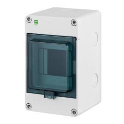 Sicherungskasten IP65 Hermetisch geschlossener Aufputz Verteilerkasten 4 Module,ELEKTRO-PLAST,2202-01, 5902431694351