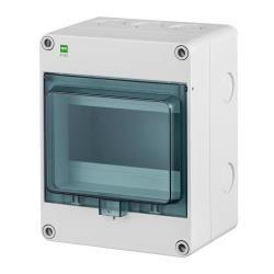 Sicherungskasten IP65 Hermetisch geschlossener Aufputz Verteilerkasten 6 Module,ELEKTRO-PLAST,2203-01, 5902431694368