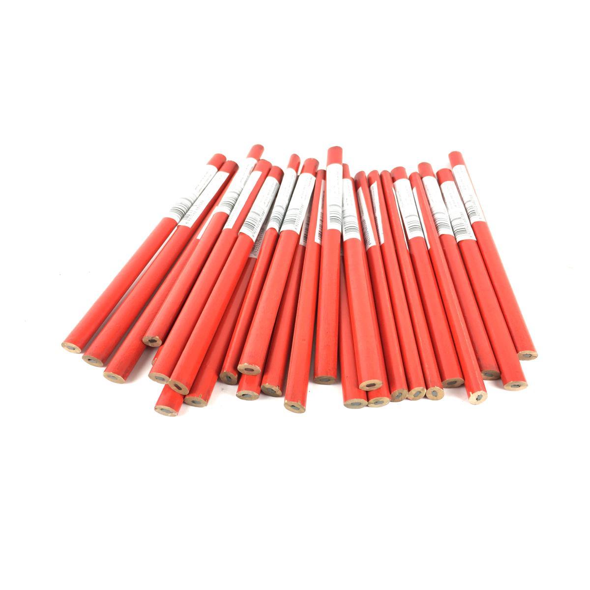 24 Stück Zimmermannsbleistift 180 mm Bleistift Anreißbleistift Baubleistift ,UAB,50600079, 0791266464544