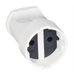 10x Makel  Strom Kupplung weiß 230V 16A
