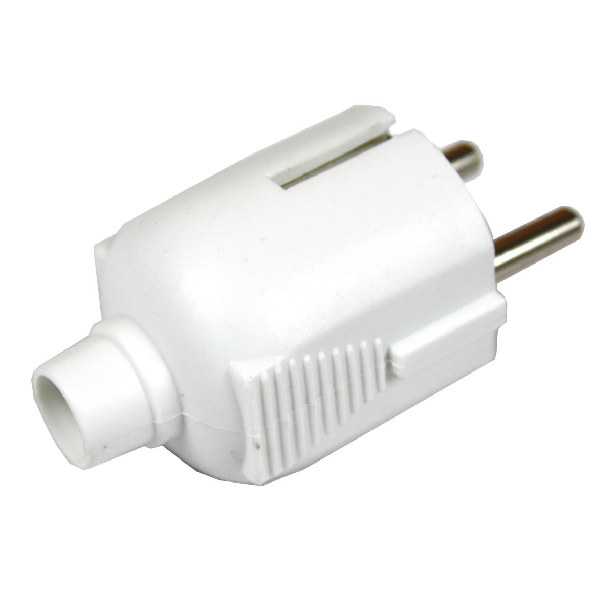 3x Schuko Stecker Strom weiß 230V 16A,Vagner SDH,KF-CR3-W, 0791266464858