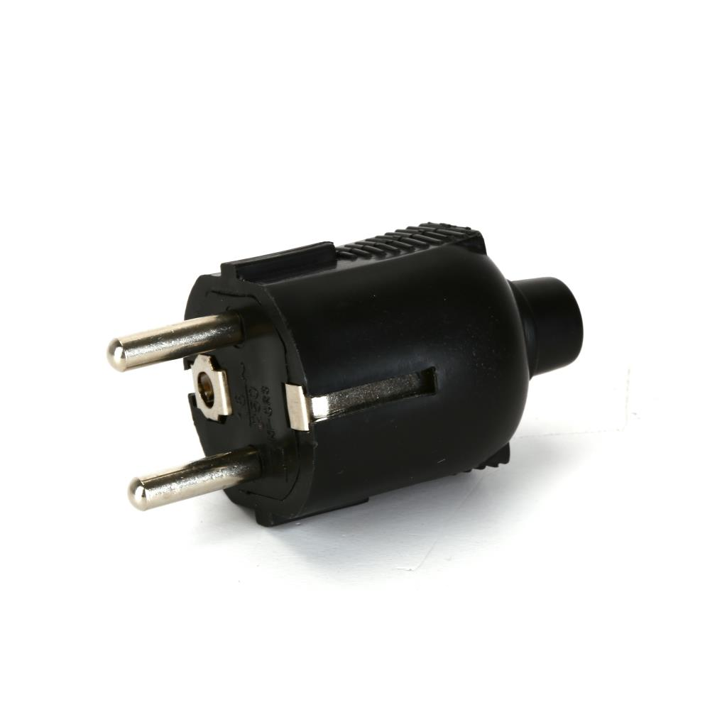 3x Schuko Stecker Strom schwarz 230V 16A,Vagner SDH,KF-CR3, 0791266464872
