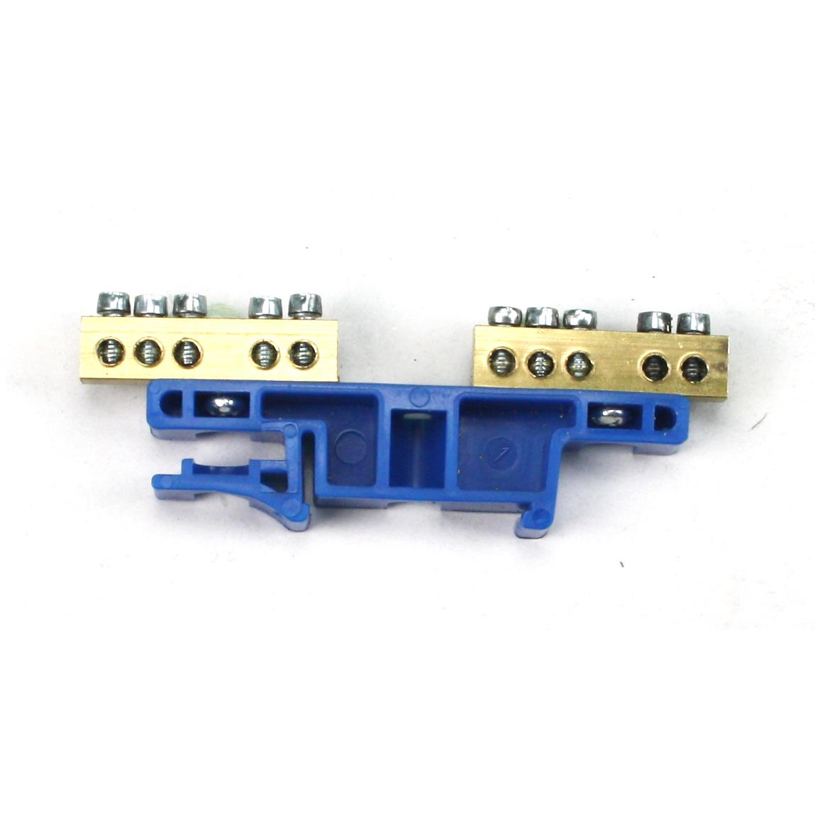 PE/N Klemme für Hutschiene 2x5-polig Sammelklemme, Verteilerklemme Blau,Elektro-Plast,0924-00, 5906868432005