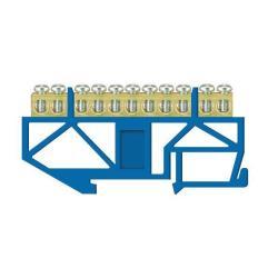 PE Klemme für Hutschiene 11-polig Sammelklemme, Verteilerklemme blau,Pawbol,E.4045, 5907484333035