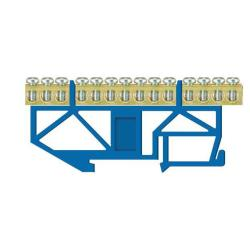 PE Klemme für Hutschiene 14-polig Sammelklemme, Verteilerklemme blau,Pawbol,E.4046, 5907484333042