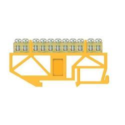 PE Klemme für Hutschiene 11-polig Sammelklemme, Verteilerklemme gelb,Pawbol,E.4056, 5907484333004