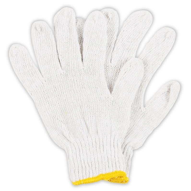 12 Paar Arbeitshandschuhe Gartenhandschuhe Baumwolle Handschuhe mit Noppen Weiss,Gardening,GB54, 2100510918418