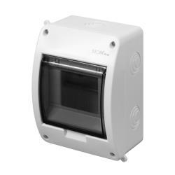 Aufputz Sicherungskasten 5 Module Unterputzverteiler serie ELEGANT weiß