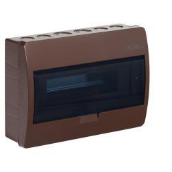Sicherungskasten Verteilerkasten 12 Module Aufputzverteiler braun ELEGANT,Elektro-Plast,2403-05, 5902431692128