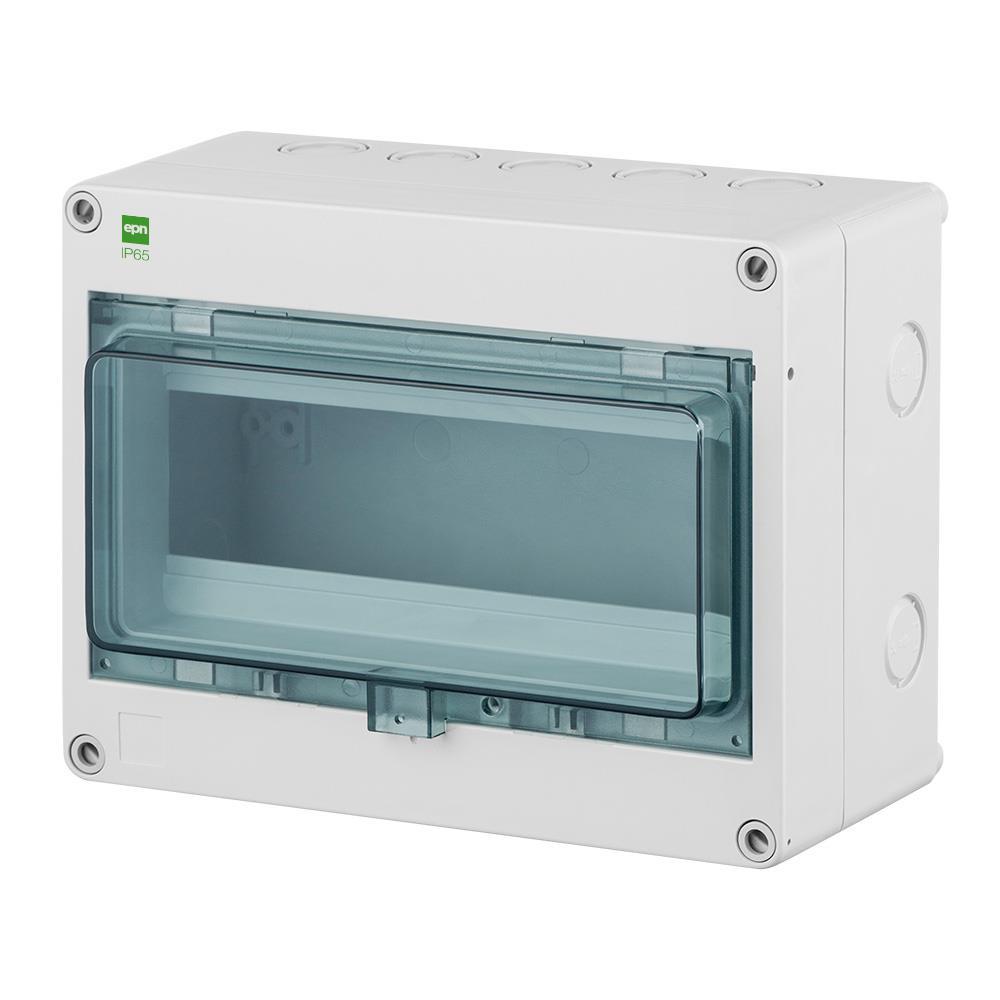Sicherungskasten IP65 Hermetisch geschlossener Aufputz Verteilerkasten 10 Module,Elektro-Plast,2204-01, 5902431694375