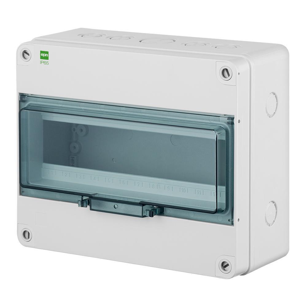 Sicherungskasten IP65 Hermetisch geschlossener Aufputz Verteilerkasten 13 Module,Elektro-Plast,2207-01, 5902431694405