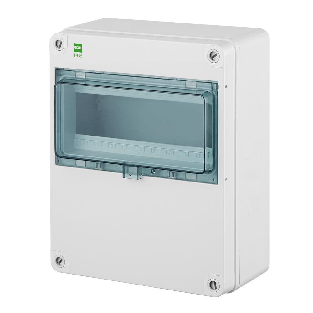 Sicherungskasten IP65 Hermetisch geschlossener Aufputz Verteilerkasten 10 Module,Elektro-Plast,2205-01, 5902431694382