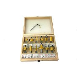 Fräserset HM Hartmetall bestückt Nutfräser 12 Fräser für Oberfräse Schaft 8 mm,Vagner SDH,000051053965, 2000510539654