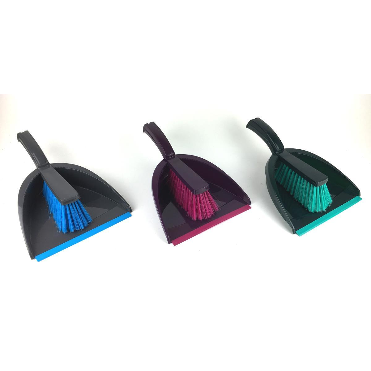 3 x Kehrgarnitur Kehrschaufel mit Gummilippe Handfeger Besen Handbesen ,york,51212429, 0791266465534