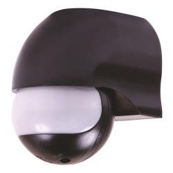 Bewegungsmelder Aufputz 180° für Innen und Außen LED IP44 schwarz bis 12m ST12