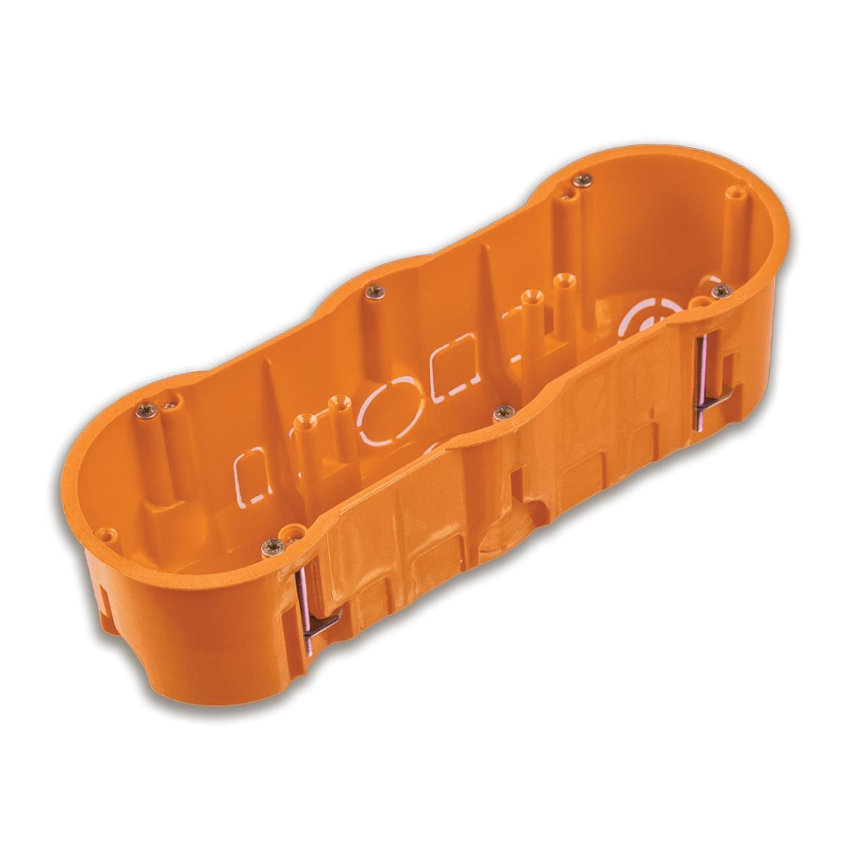 Hohlwanddose 3-fach Schalterdose Abzweigdose Hohlraumdose Ø 60 x 60 mm,Pawbol,A.0041PG, 5901350833278