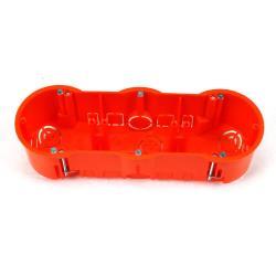 3 Stück Hohlwanddose 3-fach Schalterdose Abzweigdose Hohlraumdose Ø 60 x 60 mm
