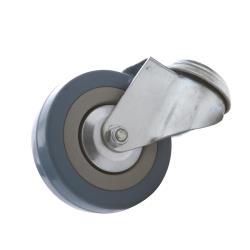 Lenkrolle mit Rückenloch 75mm mit Gummi Rad, Transportrollen, Apparaterollen,Vagner SDH,2000506152331, 2000506152331