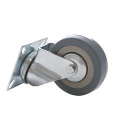 Lenkrolle 75mm mit Gummi Rad, Transportrollen, Möbelrollen, Laufrollen