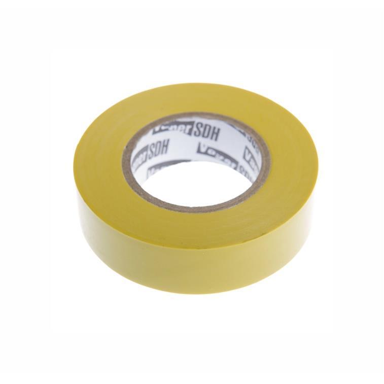 Elektriker Klebeband Isolierband Isoband - Gelb 19mm x 20m,OKKO,IZOYELLOW20, 4772013050803
