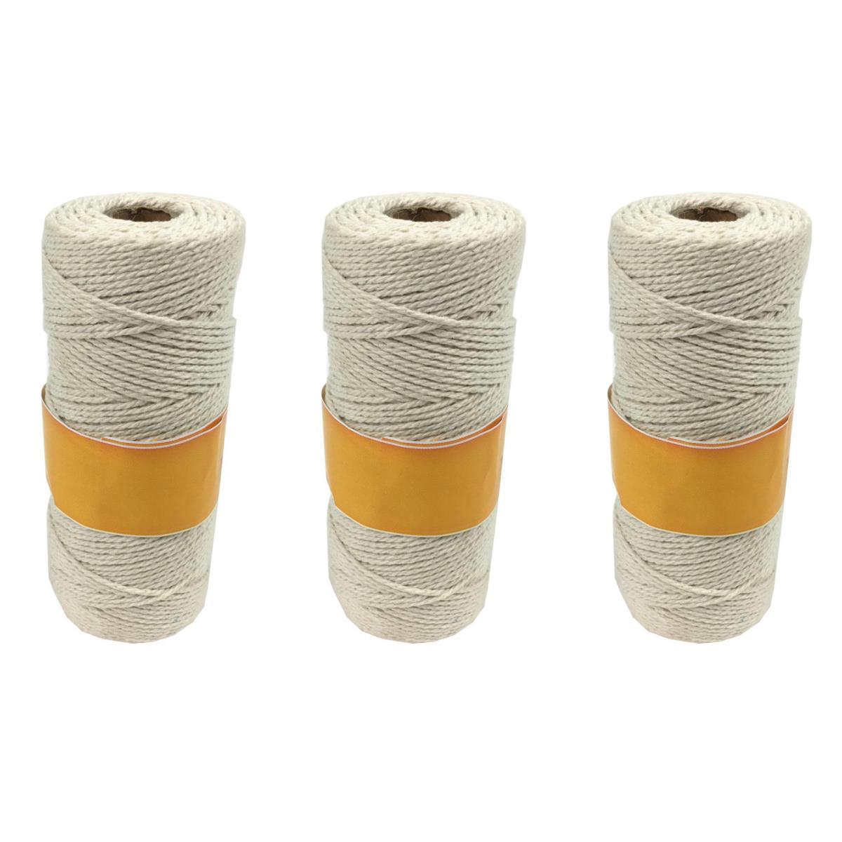 3 x Baumwollschnur Leinenfaden Baumwollkordel Faden Bastelschnur Baumwollband ,Duguva,000051181742, 0791266467514