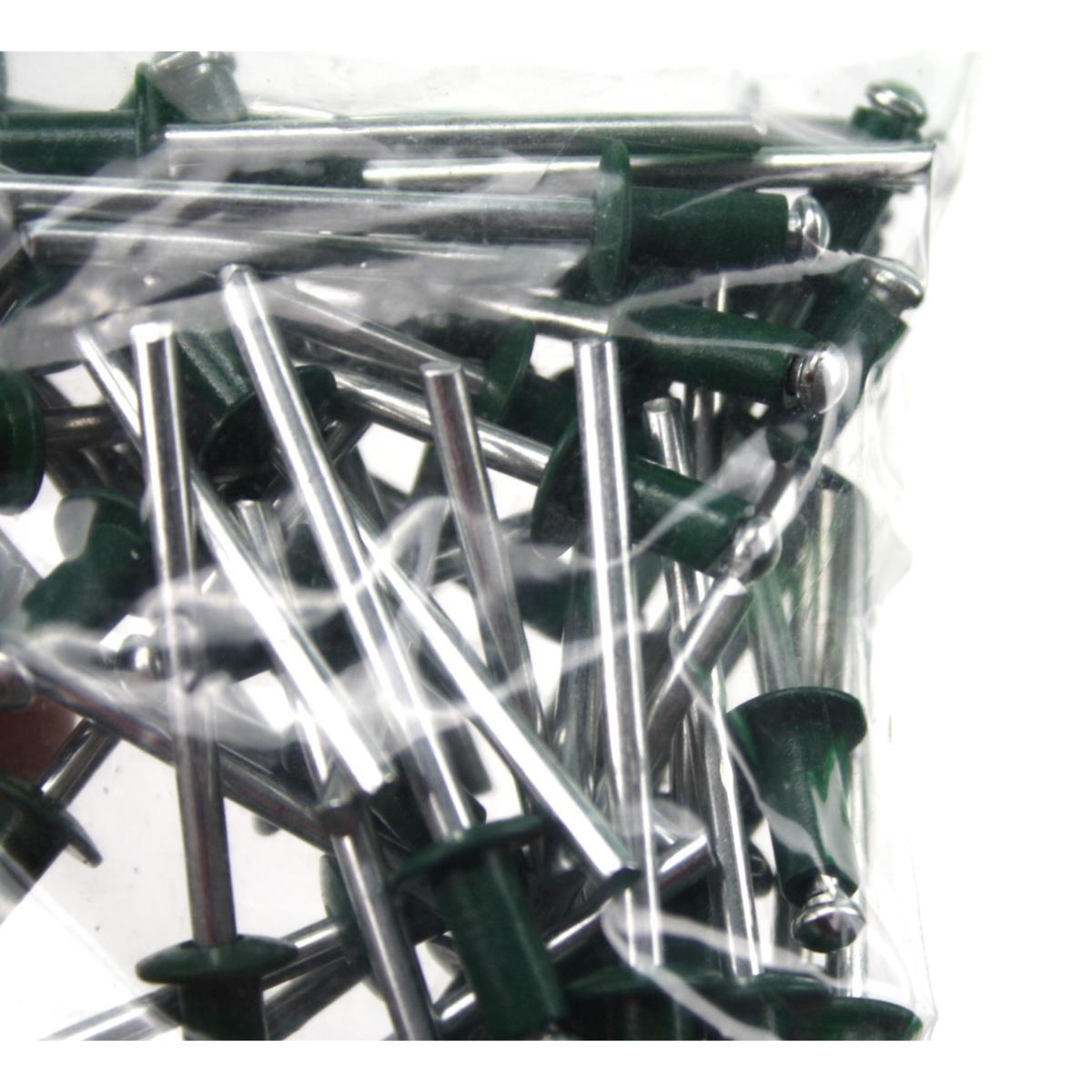 100 Stück Blindnieten 4,0 x 6mm dunkelbraun Popnieten Alu//Stahl Flachkopf Nieten