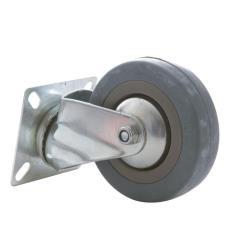 Lenkrolle 100mm mit Gummi Rad, Transportrollen, Möbelrollen, Laufrollen