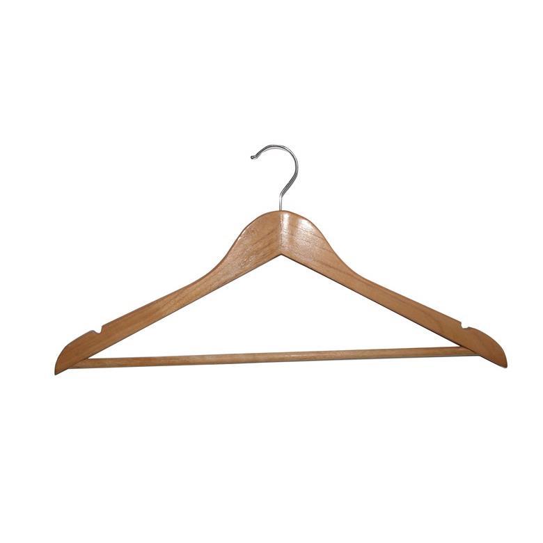 Holzbügel Kleiderbügel Garderobenbügel mit Hosenstange Rockkerben