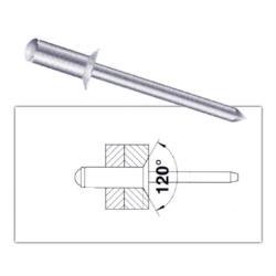 100 Stück Blindnieten 4,0 x 8mm Popnieten Standart Alu/Stahl Senkkopf Nieten,Vagner SDH,2000510562522, 0758198325404