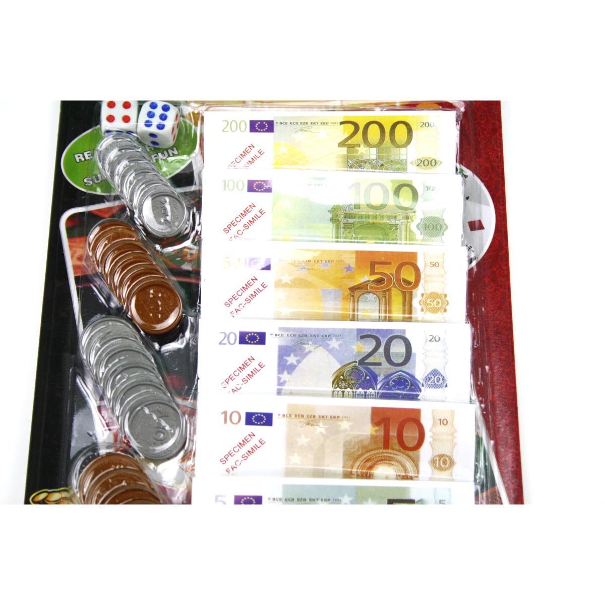 Spielgeld Euro Casinogeld Geld Münzen Geldscheine Kaufladengeld Cash Money Kohle,Casino Table,000051183081, 8800511830811
