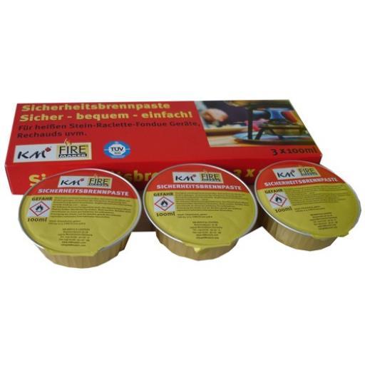 Sicherheitsbrennpaste Brennpaste Ethylalkohol 3x80g Brenngel Fondue Raclette ,K M,0000316, 4004753903164