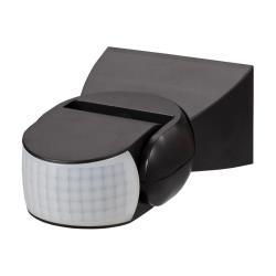 Bewegungsmelder Aufputz 180° für Innen und Außen LED IP65 schwarz bis 12m ST15